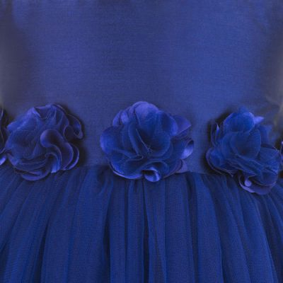 Blue hi low party dress zoom