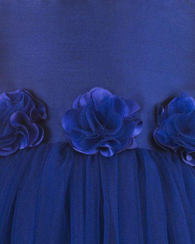 Blue hi low party dress zoom