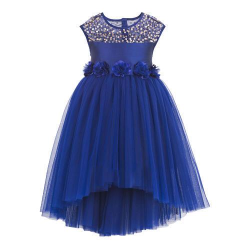 Blue hi low party dress