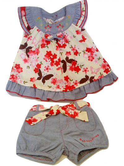 Butterfly print baby 2pc set