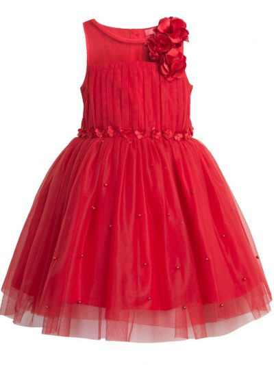 Flower girl red short dress