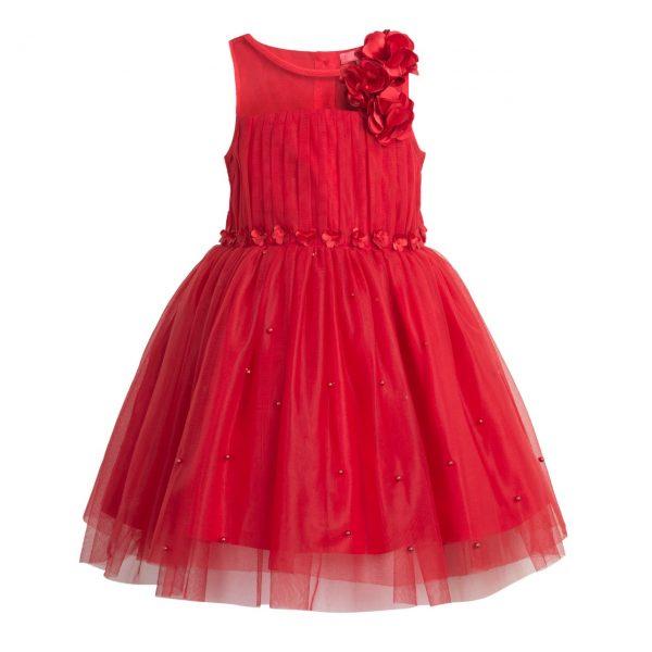 Flower girl red short dress
