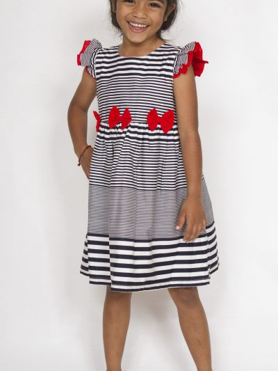 Girls smart casual cotton dress