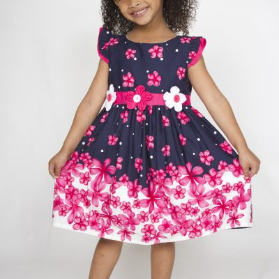 Girl smart casual cotton dress