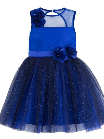 Girls blue party dress