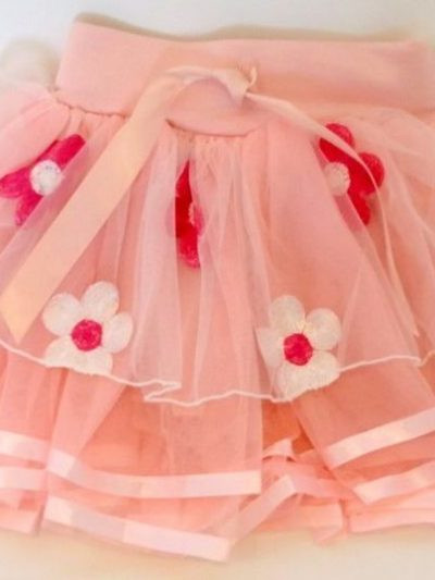 Baby casual peach tutu skirt