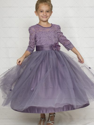 girls mauve purple party dress
