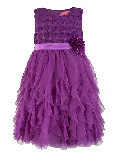 Girls purple formal dress