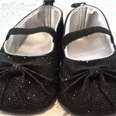 Infant black formal shoes
