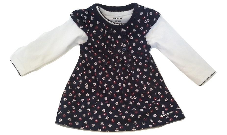 infant blue cotton flower top
