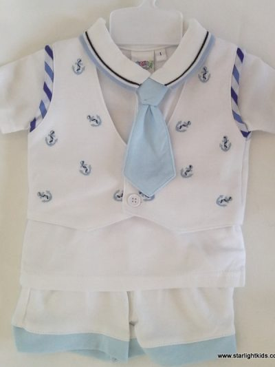 Infant boy sailor set