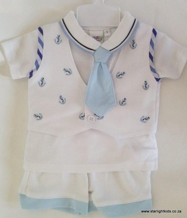 Infant boy sailor set