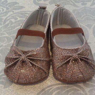 Infant formal bronze shoes