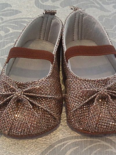Infant formal bronze shoes