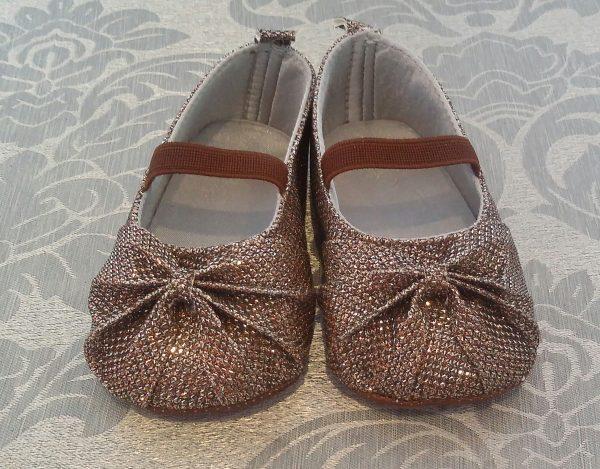 (Infant bronze shoes)(IS608) (R140)( 0-6mx2,6-12mx2,12-18mx2)