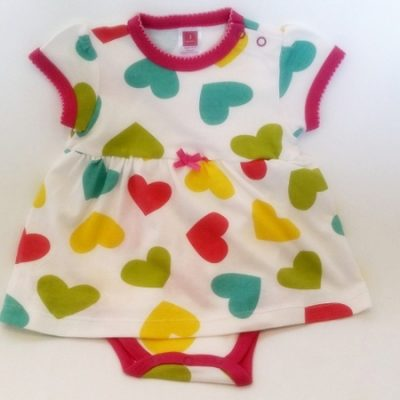 Infant cotton romper dress