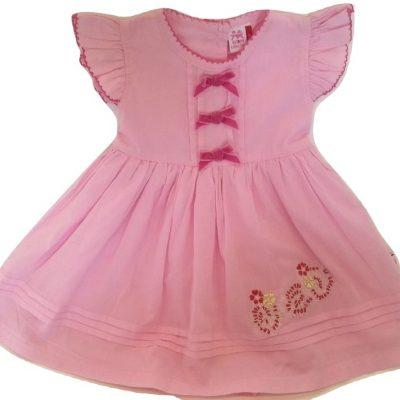 Infant pink cotton dress