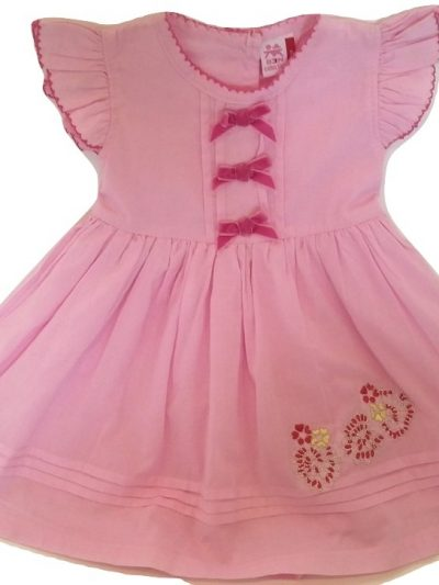Infant pink cotton dress