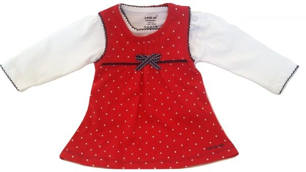 Infant red cotton top