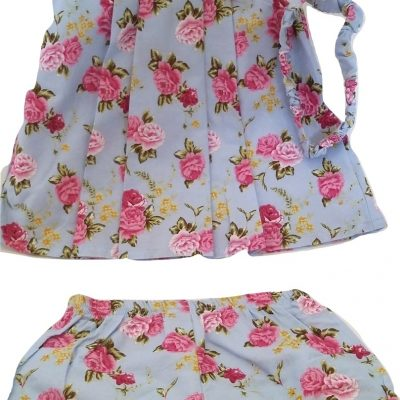 Infant rose cotton set with headband