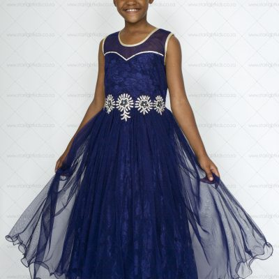 navy blue girl formal dress