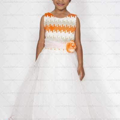 Pale Ivory Flower Girl Dress