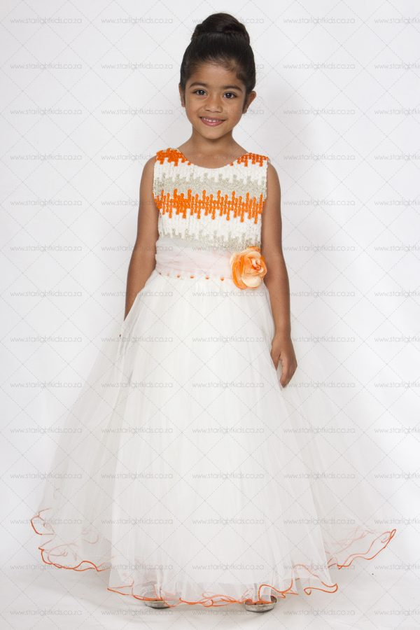 Pale Ivory Flower Girl Dress