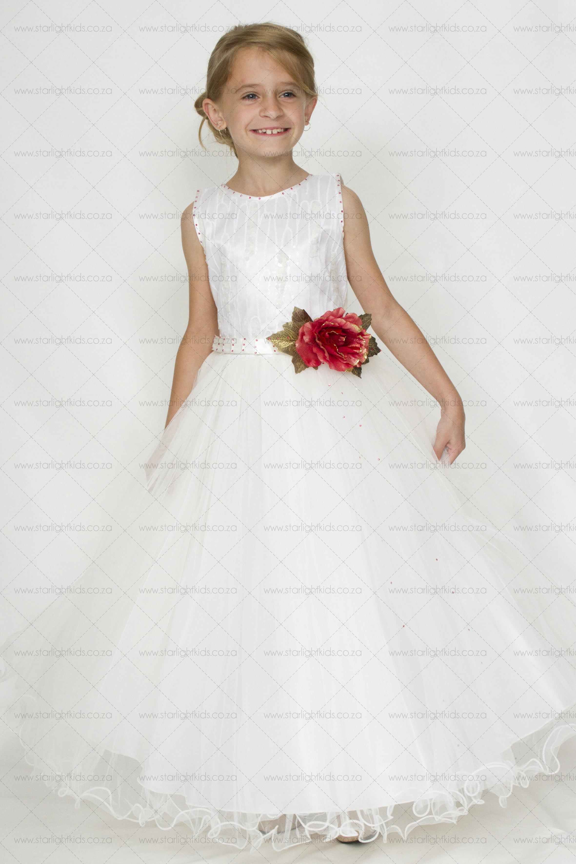 Flower Girl Dress Off White Flower Girl Dress Starlight Kids