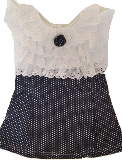 baby blue and white cotton dress