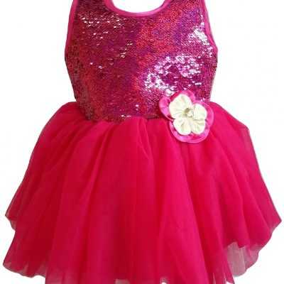 baby cerise sequins party dress