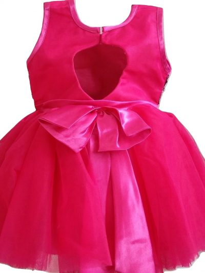 baby cerise sequins party dress back