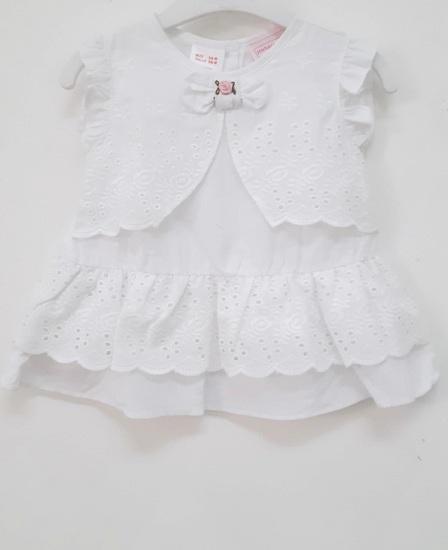baby cotton white 2pc set
