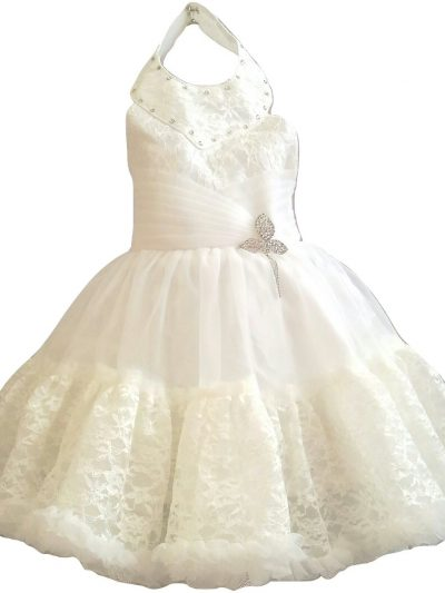 baby girl cream party dress