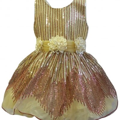baby girl formal gold sequins dress