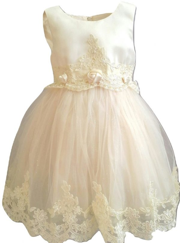 baby girl formal ivory dress