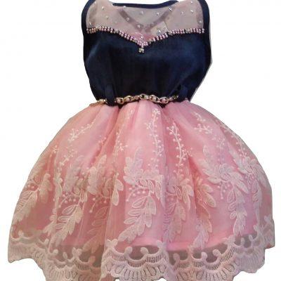 baby girl pink denim dress