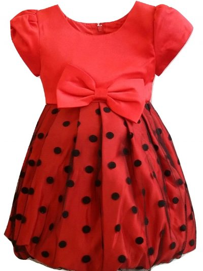 baby girl red black party dress