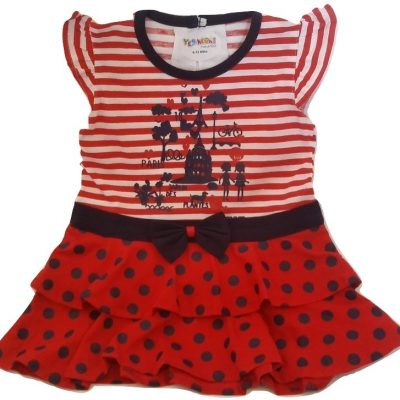 baby red and blue cotton top