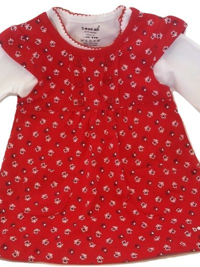 Infant red flower cotton top
