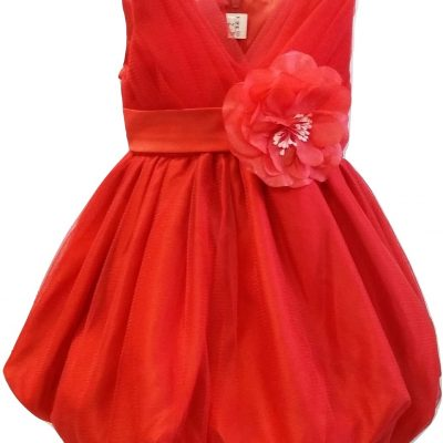baby red party dress