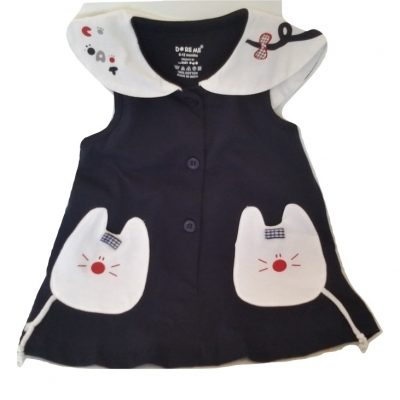 infant blue kitty cotton top