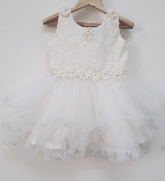 ivory baby girl party dress